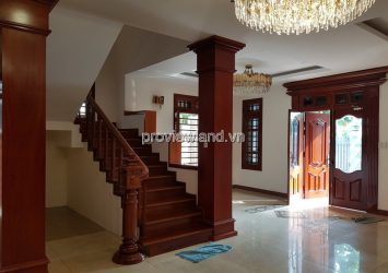 APAK villa in District 2 for rent land area 170m2 of structural 1 basement 2 floors 5 bedrooms