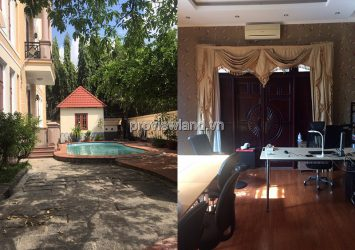 An Phu villa for rent in District 2 has 398m2 of land with 6 bedrooms and pool